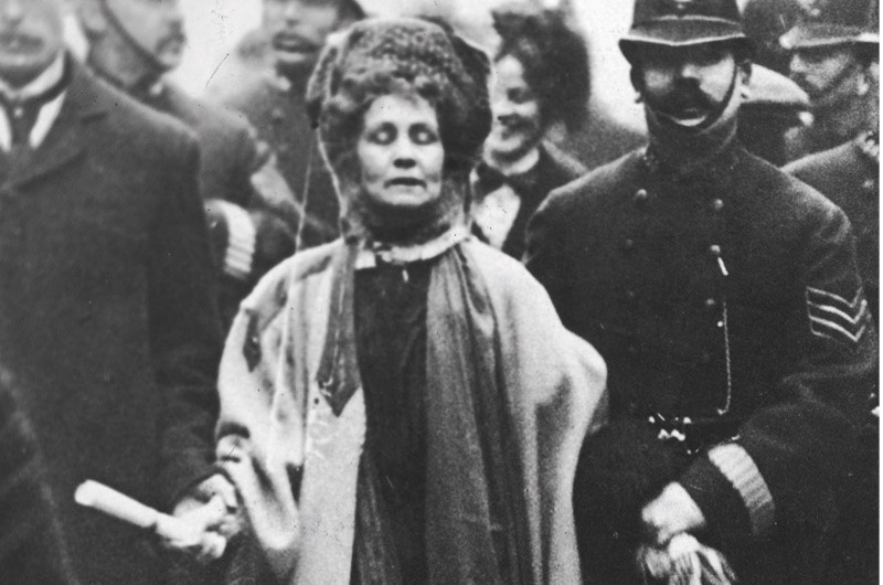 """Emmeline Pankhurst - pictured in 1908 - was a """"feisty, strong and independent thinker"""", says Richard E Grant (Getty)"""