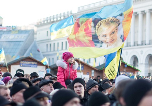 Pro-EU demonstrations keep going at capital Kiev's Independence Square on December 22, 2013. The anti-government protests began when Ukrainian President Victor Yanukhovych angered many Ukrainians by refusing to sign an agreement that would strengthen cooperation with the European Union. (Photo by Aykut Unupinar/Anadolu Agency/Getty Images)