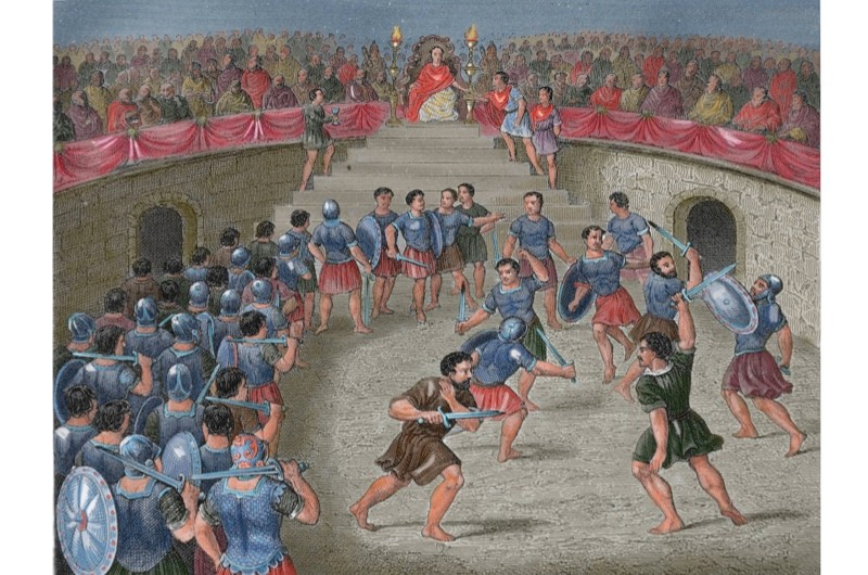 Despite popular belief, Gladiatorial fighting was not the most popular entertainment in Ancient Rome. (Photo by Alamy)