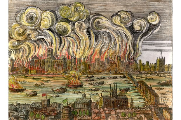 Great Fire of London, September 1666