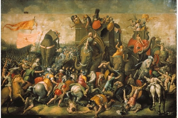 Hannibal's war elephants are defeated at the Battle of Zama in 202 BC. (AKG)