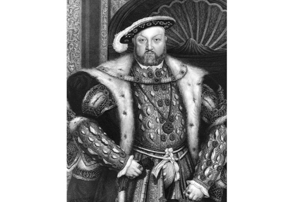 c1540, a portrait of King Henry VIII. An engraving by T A Dean from a painting by Hans Holbein. (Photo by Hulton Archive/Getty Images)