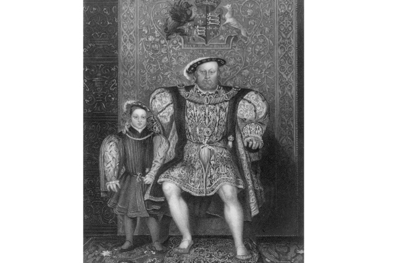 A portrait of Henry VIII with Prince Edward, his son by his third wife, Jane Seymour. If the future Henry IX had survived, there may have been no cause for Henry to annul his marriage to Katherine of Aragon and marry Anne Boleyn in 1533, says Amy Licence. (Photo by Hulton Archive/Getty Images)