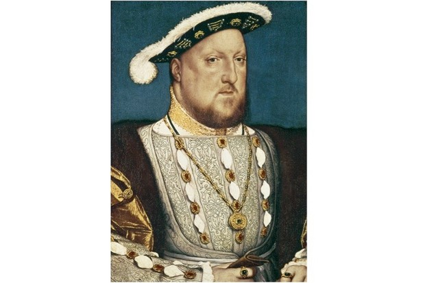 A portrait of Henry VIII, who is buried in a 'temporary' vault under the Quire in St George's Chapel at Windsor Castle in the company of his third queen, Jane Seymour. (Photo by Imagno/Getty Images)