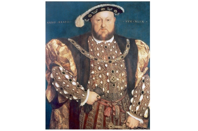 Henry VIII. Portrait by Hans Holbein the Younger, 1540. The painting has the inscription 'Anno Aetatis suae XLIX' (His year of age, 49)'. Palazzo Barberini, Rome, Italy. (Photo by PHAS/UIG via Getty Images)