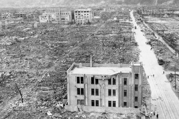 Ministry Of Home Defence (Scientific Advisers' Branch), A view of the devastation caused by the atomic bomb that was dropped on Hiroshima in Japan on 6 August 1945. (Photo by IWM via Getty Images)