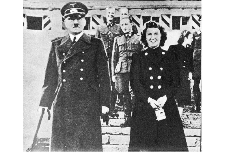 Adolf Hitler with his mistress, Eva Braun, in the early to mid-1940s. The pair married on 29 April 1945, the day before they committed suicide together. (Photo by Hulton Archive/Getty Images)