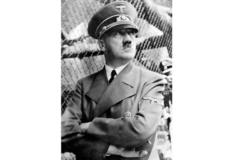 Adolf Hitler in uniform. (Bettmann/Getty Images)