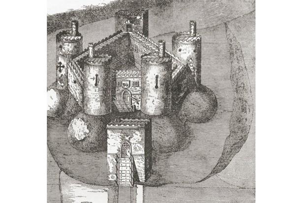 Looking inside the medieval Holt Castle
