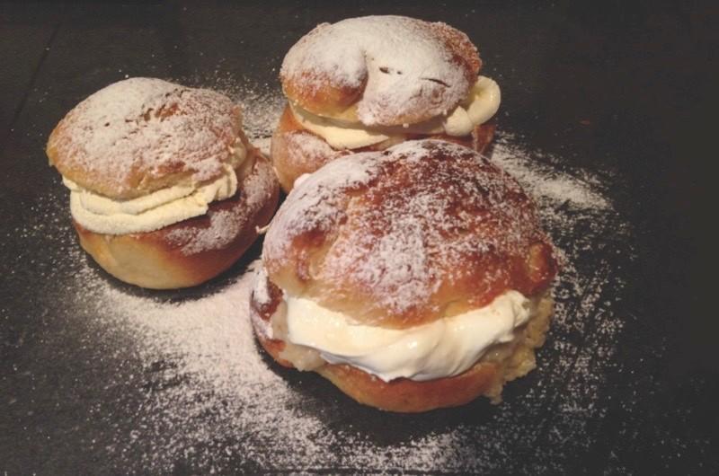 Not doughnuts, not profiteroles but semlor - creamy treats to beat pancakes. (Credit: Sam Nott)
