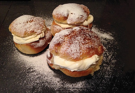 Not doughnuts, not profiteroles but semlor - creamy treats to beat pancakes. (Credit: Sam Nott)