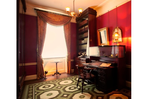 A desk at 48 Doughty Street. (Photo by Charles Dickens Museum)