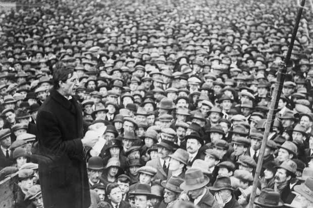 Eamon de Valera Speaking to Crowd