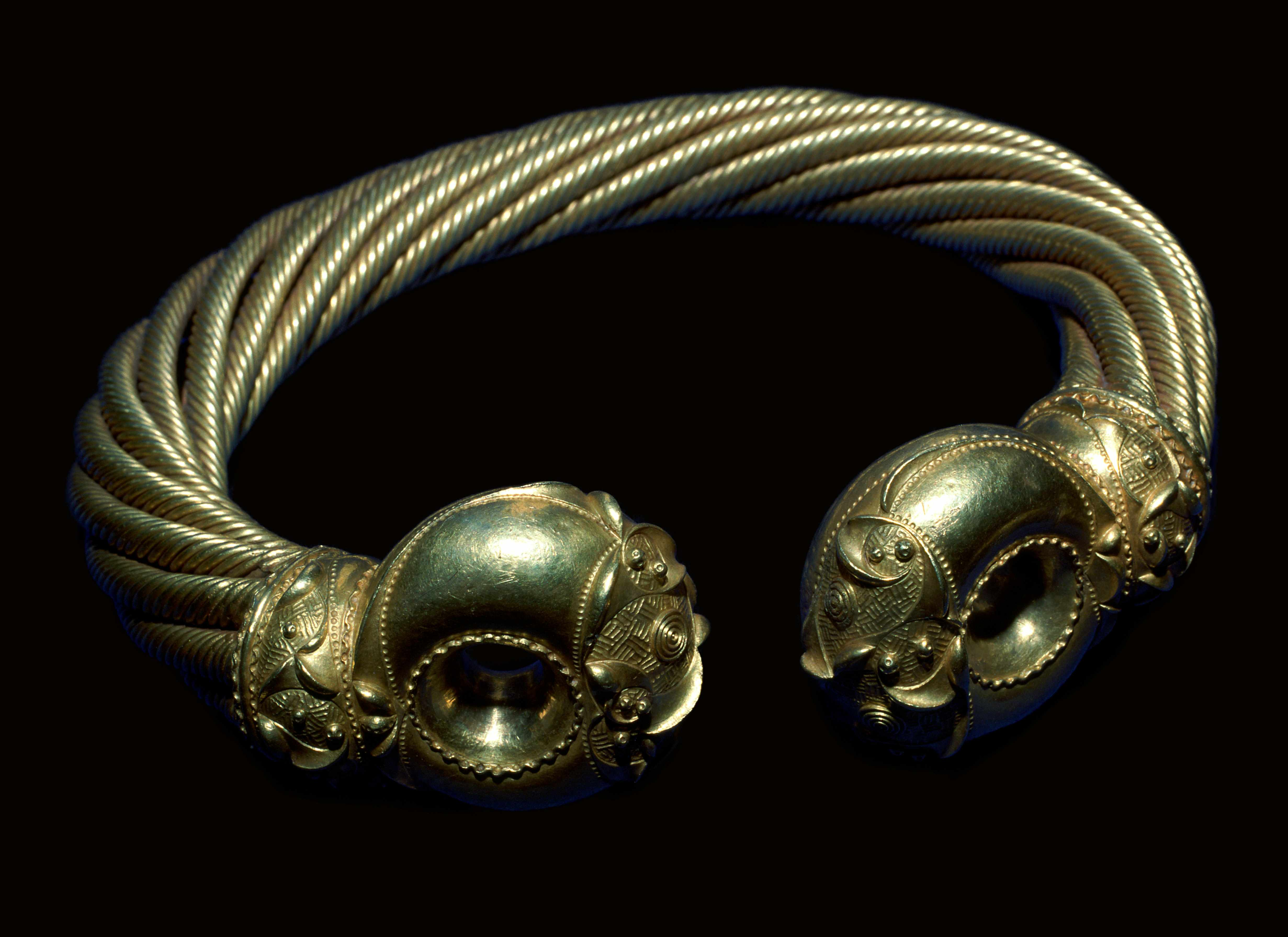 Golden torc from the Iron age