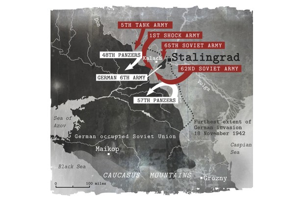 Stalingrad map illustration