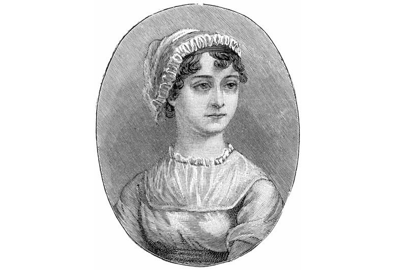 A portrait of the romantic novelist Jane Austen. (Photo by Universal History Archive/Getty Images)