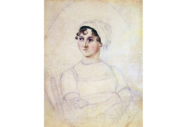 Colour portrait of Jane Austen (1775–1817) drawn by her sister Cassandra. Dated 1810. (Photo by Universal History Archive/UIG via Getty Images)