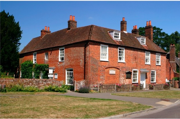 Jane Austen's House, Chawton, Hampshire. (Photo by Peter Thompson/Heritage Images/Getty Images)