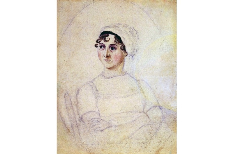 The National Portrait Gallery attributed this unfinished portrait to Jane Austen's sister, Cassandra, and dated it to circa 1810. (Universal History Archive / Getty Images)