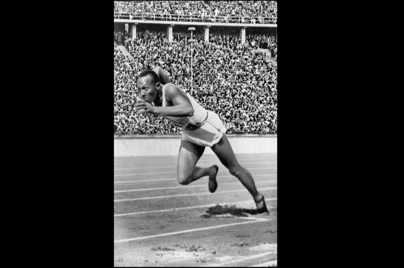 Jesse Owens, Berlin Olympics, 1936. It is often claimed that Hitler deliberately snubbed Owens because he had shown the Fuhrer's theories of Aryan racial superiority to be unfounded, but this is a myth. (Granger Historical Picture Archive/Alamy Stock Photo)
