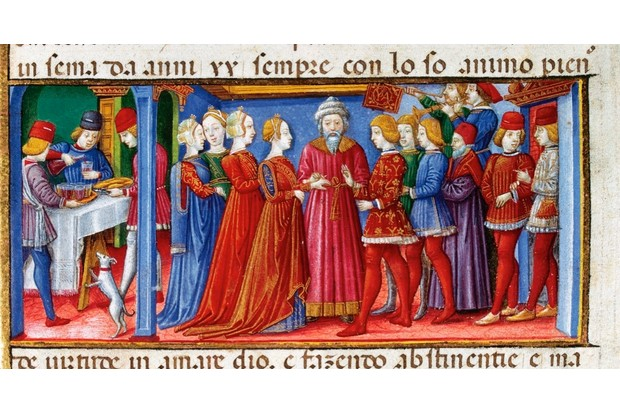 Joachim and Anne's Wedding, Codex of Predis (1476), Royal Library, Turin, Italy. (Photo by Prisma/UIG/Getty Images)