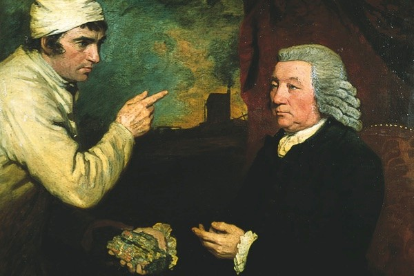 Thomas Daniell (right), painted by John Opie in 1786. Daniell made a fortune from mining. (Photo by Royal Cornwall Museum)