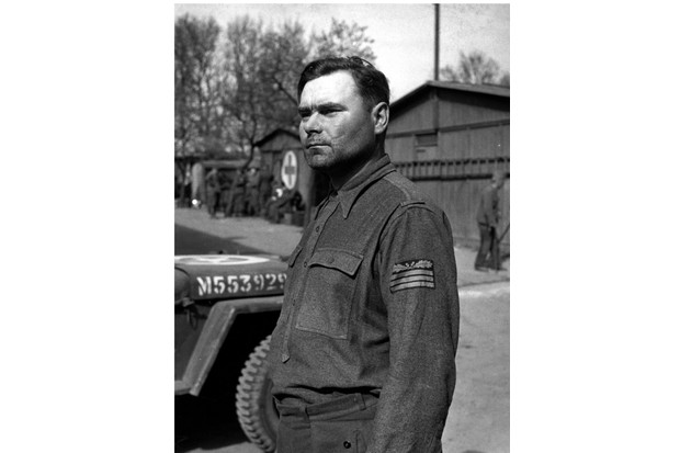 SS captain Josef Kramer (1906–1945), commandant of the Bergen-Belsen concentration camp. He was sentenced to death by a military court and hanged on 13 December, 1945. (Photo by Galerie Bilderwelt/Getty Images)