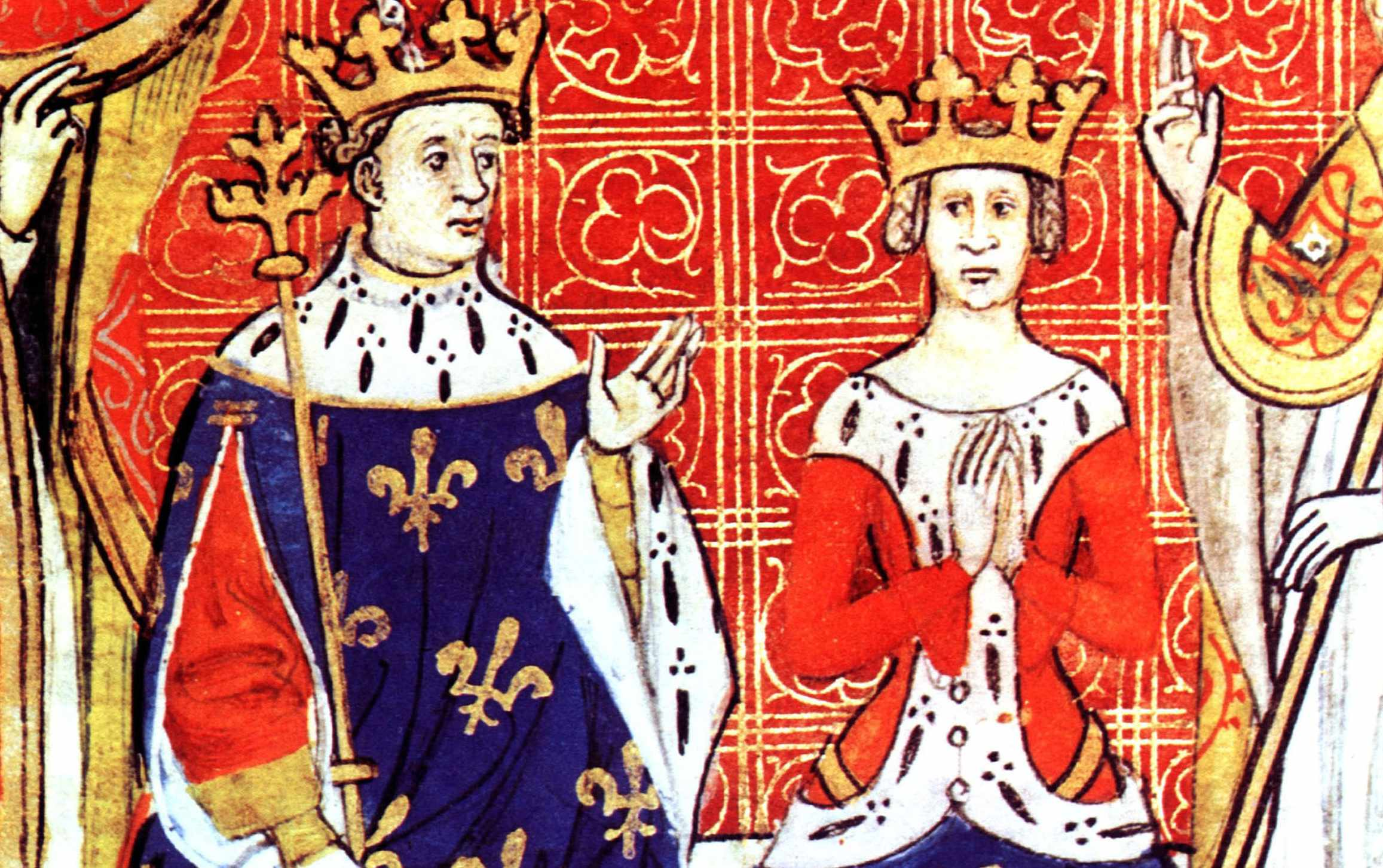 Painting of Louis VIII and Blanche of Castille