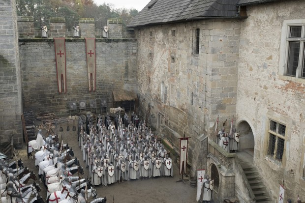 The characters in 'Knightfall' (pictured) are a combination of real historical people and characters from established Templar mythologies, says Dan Jones. (Image credit: History)