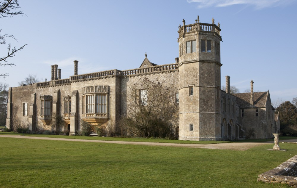 View of Lacock Abbey, Wiltshire, in spring. The Abbey was founded in 1232 and was converted to a country house in the sixteenth century.