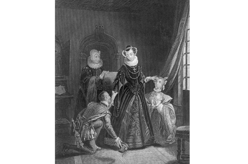 Mary, Queen of Scots and her ladies in waiting. (Photo by Hulton Archive/Getty Images)