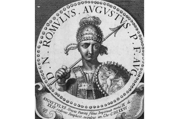 Circa 475 AD, Last Roman Emperor of the West Romulus Augustulus. He ruled 475 - 476 AD. (Photo by Spencer Arnold/Getty Images)