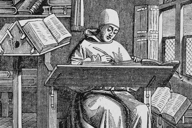 Illustration of a Medieval Scribe