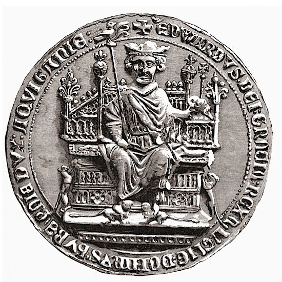 The Great Seal of Edward I, who was also known as 'Longshanks' and the 'Hammer of the Scots'.