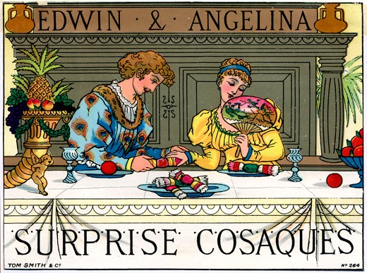 Tom Smith's Surprise Cosaques, Christmas Crackers 1878. (Image by Getty)