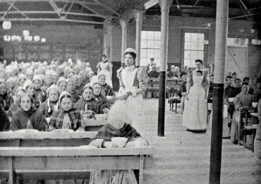 The inmates' dining hall at the Poplar Poor Law Union workhouse in London, 1903. Though it was widely reviled, the Poor Law would survive another 45 years. (Mary Evans)