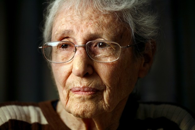 German–Jewish high–jumper Margaret Bergmann–Lambert, age 95, was thrown out of the 1936 Berlin Olympics by the Nazis because her heritage. Stills/historical pictures of her in her sporting days, she was known as Gretel Bergmann.  (Photo by Carolyn Cole/Los Angeles Times via Getty Images)