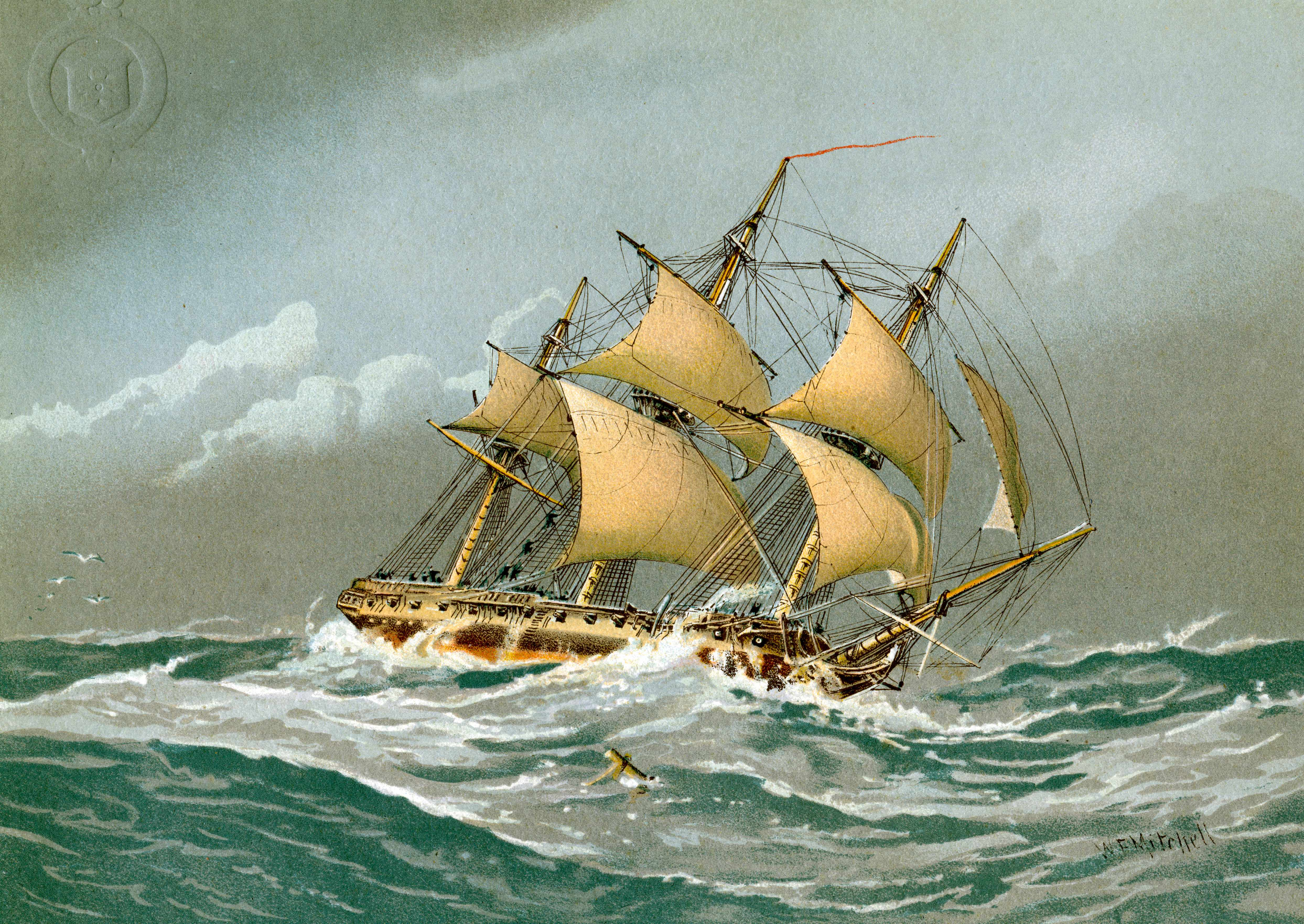 A Royal Navy 28 gun frigate c1794