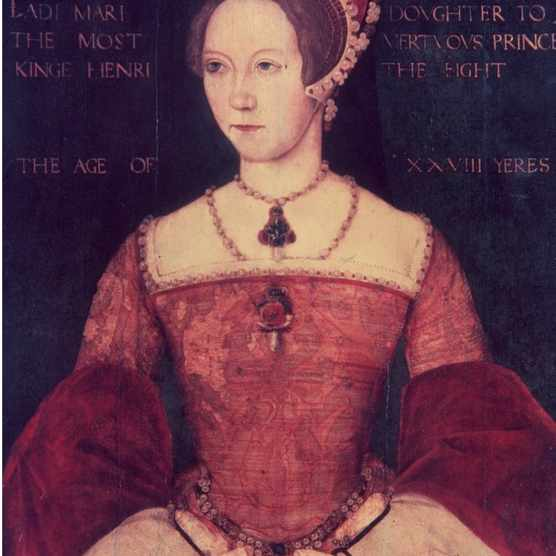 Mary Tudor (1516–1558), the daughter of Henry VIII and Catherine of Aragon, at the age of 28. Following the death of her half-brother Edward VI and the brief rule of Lady Jane Grey, she ascended to the English throne as Queen Mary I in 1553. (Photo by Hulton Archive/Getty Images)