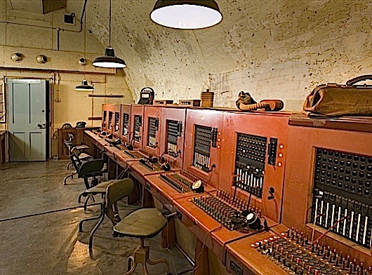 DOVER CASTLE, Kent. The Secret Wartime Tunnels. Telephone exchange.