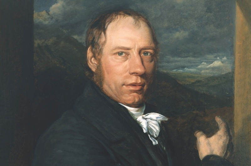 NRM260960 Richard Trevithick (1771-1833) 1816 (oil on canvas) by Linnell, John (1723-99); Science Museum, London, UK; (add.info.: Cornish engineer and inventor; first to use high pressure steam to drive an engine; responsible for first successful railway locomotive;); PERMISSION REQUIRED FOR NON EDITORIAL USAGE; English,  out of copyright  PLEASE NOTE: The Bridgeman Art Library works with the owner of this image to clear permission. If you wish to reproduce this image, please inform us so we can clear permission for you.
