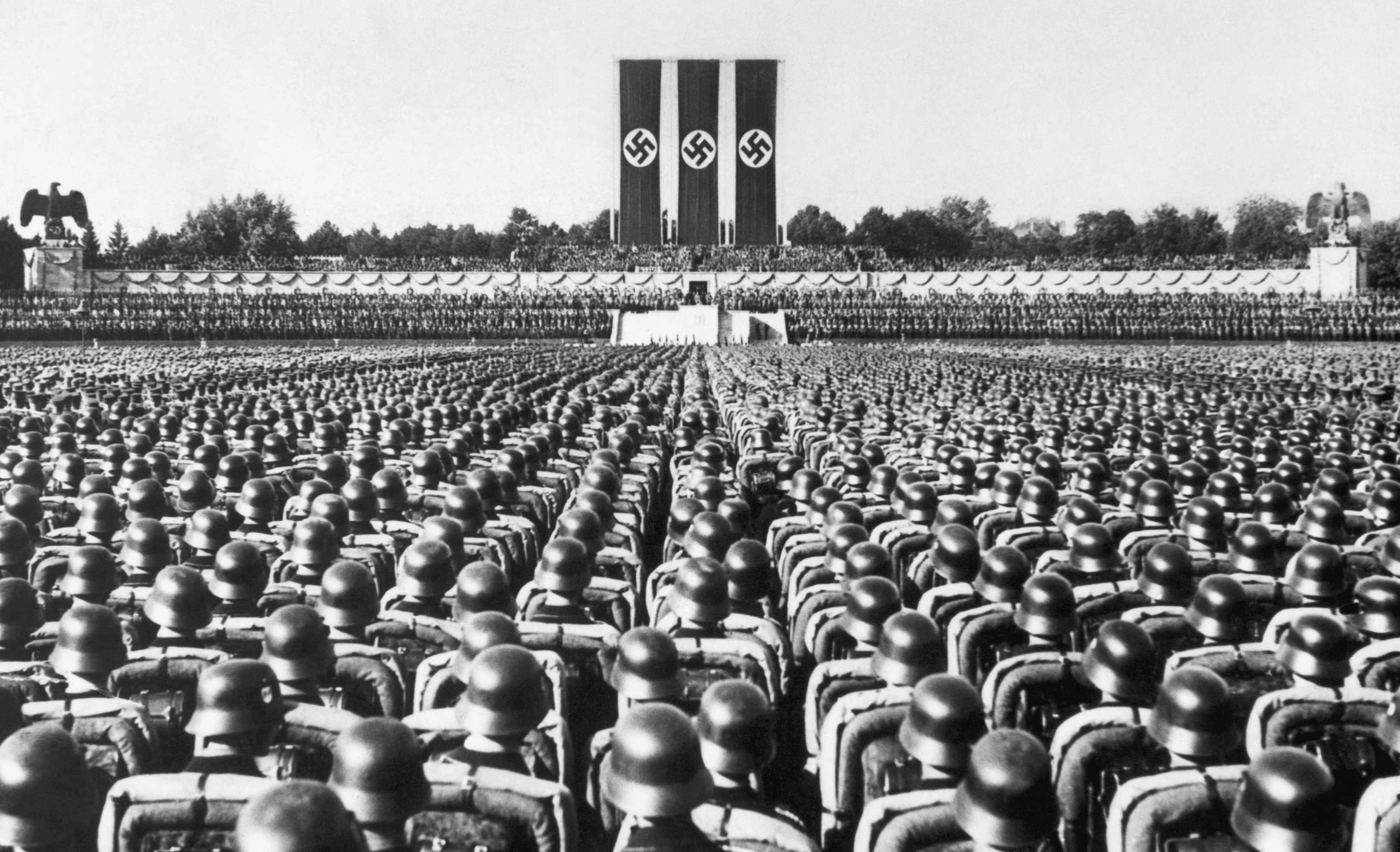 Soldiers at Nazi Party Rally in Nuremberg