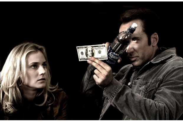 Nicholas Cage as Benjamin Franklin Gates and Diane Kruger as Abigail Chase in 'National Treasure' (2004). (Photo by ZUMA Press, Inc./Alamy Stock Photo)