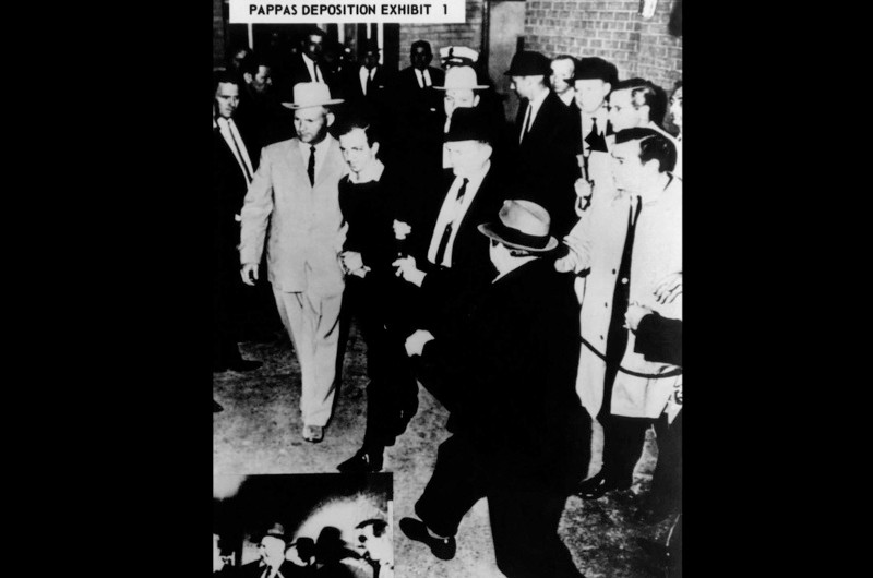 Jack Ruby moving towards Oswald. (© Everett Collection Historical/Alamy)