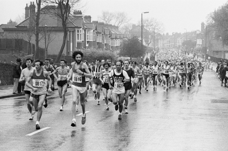 The runners at the two mile mark at the back of Greenwich Park.