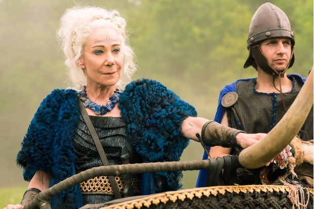 Zoe Wanamaker as Queen Antedia in Britannia.