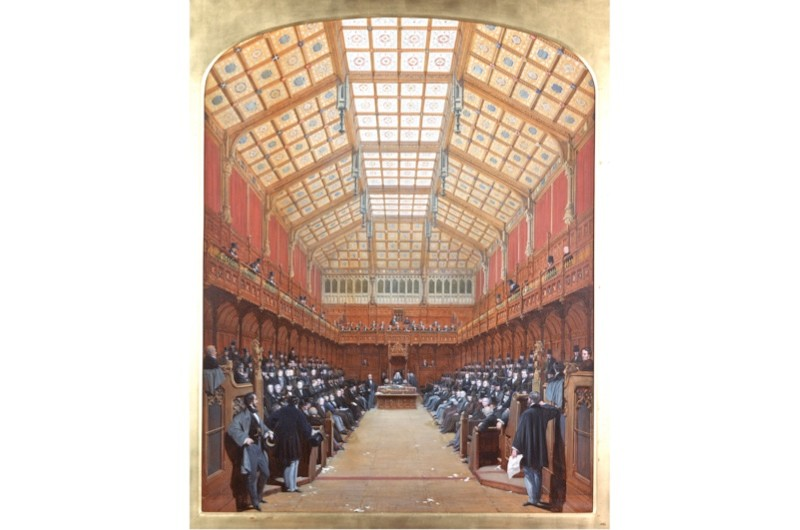 A depiction of the interior of parliament. (© Palace of Westminster Collection, WOA 742 www.parliament.uk/art)