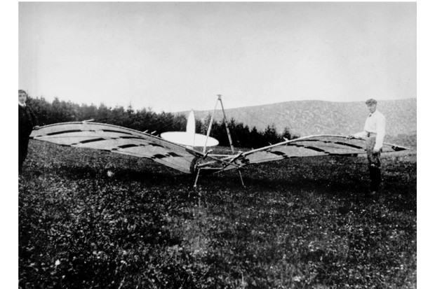 UNITED KINGDOM - JUNE 08:  Percy Sinclair Pilcher (1867- 1899) was a partner in the firm Wilson and Pilcher Ltd, and began gliding in 1895. On 20 June 1897, he was towed 750 feet in the 'Hawk', the fourth of his gliders, and the one which resulted in his death at the age of 32. Pilcher inspired the Wright brothers to construct a full- size glider.  (Photo by SSPL/Getty Images)