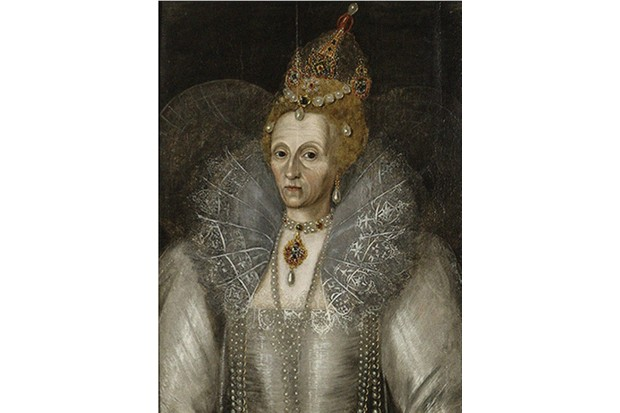 Portrait of Elizabeth I of England (1533-1603), ca 1593. Found in the collection of Elizabethan Gardens, Manteo. Artist :  Anonymous. (Photo by Fine Art Images/Heritage Images/Getty Images)