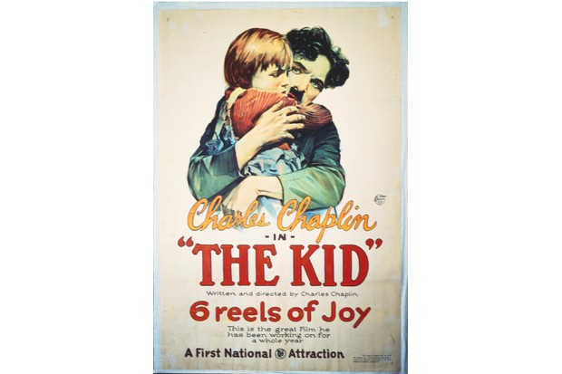 A poster for Charlie Chaplin's 1921 comedy 'The Kid'.(Photo by Movie Poster Image Art/Getty Images)
